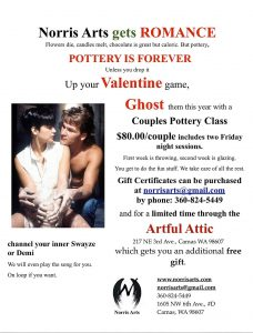 Couple's Pottery Class-Up Your Valentine Game